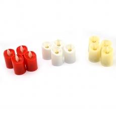 Set di 12 candele LED colori misti real touch