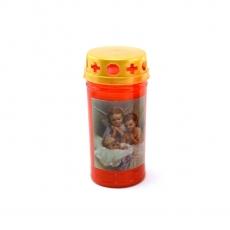 Candela led plastica rossa 11,5x6 cm
