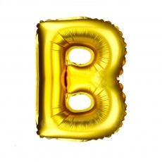 Palloncino gonfiabile dorato 55 cm lettera B
