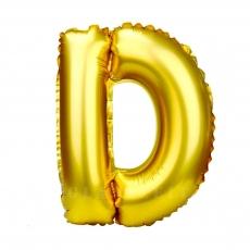 Palloncino gonfiabile dorato 55 cm lettera D