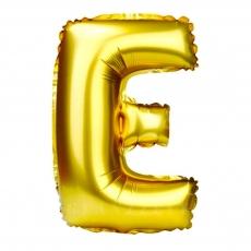 Palloncino gonfiabile dorato 55 cm lettera E