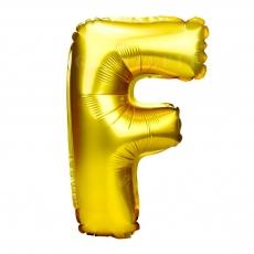 Palloncino gonfiabile dorato 55 cm lettera F
