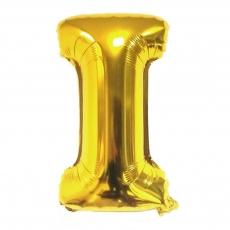 Palloncino gonfiabile dorato 55 cm lettera I