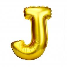 Palloncino gonfiabile dorato 55 cm lettera J