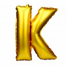 Palloncino gonfiabile dorato 55 cm lettera K