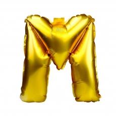 Palloncino gonfiabile dorato 55 cm lettera M