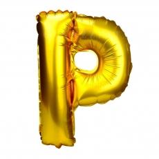 Palloncino gonfiabile dorato 55 cm lettera P