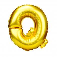 Palloncino gonfiabile dorato 55 cm lettera Q