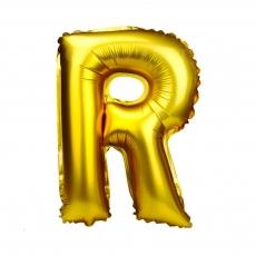 Palloncino gonfiabile dorato 55 cm lettera R