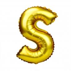 Palloncino gonfiabile dorato 55 cm lettera S