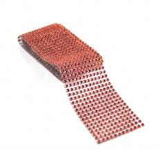 Rotolo di strass flessibile 6 cm x 1,8 m, rosso