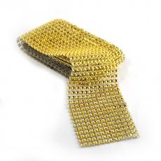 Rotolo di strass flessibile 6 cm x 1,8 m, oro