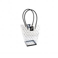 Piccola borsa pieghevole in plastica con motivo a pois lo adoro