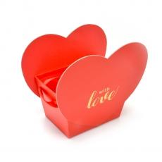 Mini box With Love, con manico in raso rosso