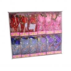Set di 12 composizioni di sapone rosa rose