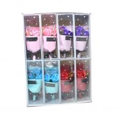 Set 8 mazzi di rose di sapone colori misti modello 1