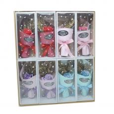 Set 8 mazzi di rose di sapone colori misti modello 2