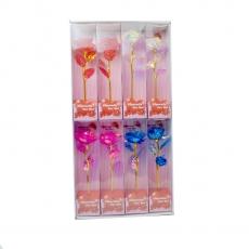Set di 8 colori misti di rose arcobaleno
