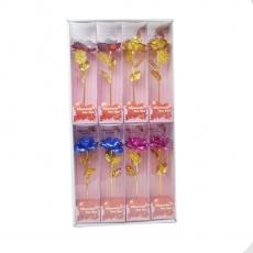 Set di 8 rose chiare colori misti