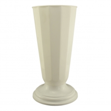 Vaso da terra 19x48 cm bianco perla